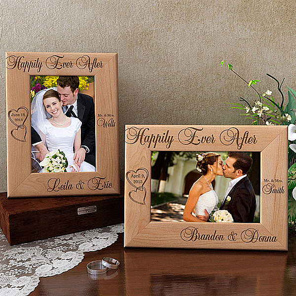 Happily Ever After Wooden Picture Frame
