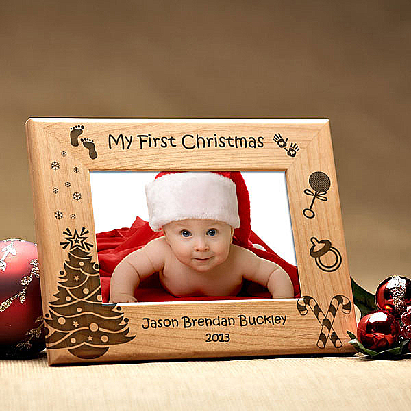 My First Christmas Wooden Picture Frame
