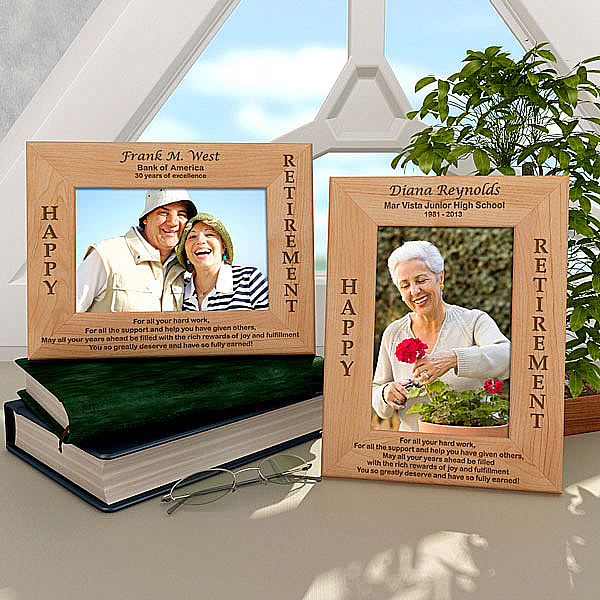 Happy Retirement Wooden Picture Frame