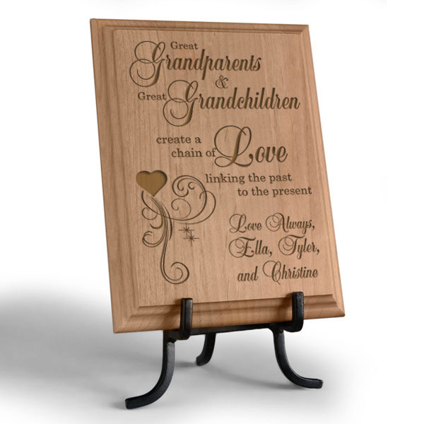 A Great Chain of Love Wooden Plaque