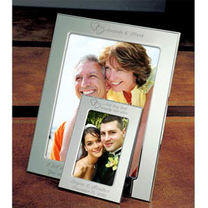 Our Hearts Silver Picture Frame