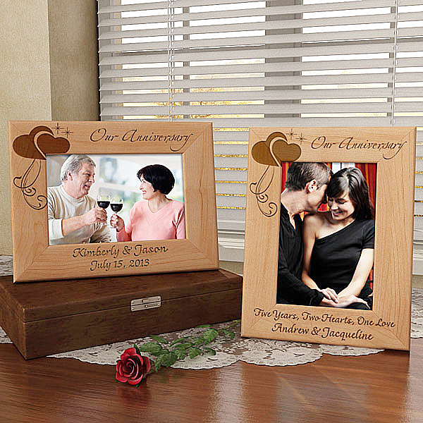 Anniversary Wooden Picture Frame