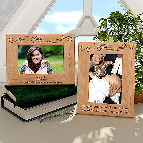 God Loves You Wooden Picture Frame