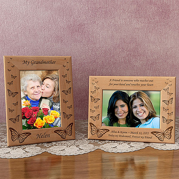Butterfly Wooden Picture Frame