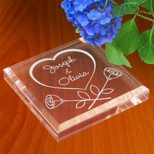 Our Love in Bloom Keepsake and Paperweight