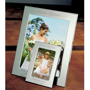 Flower Girl Silver Picture Frame