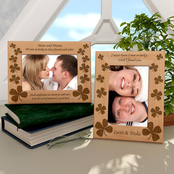Four Leaf Clover Wooden Picture Frame