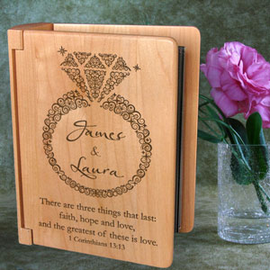 Everlasting Love Wooden Photo Album