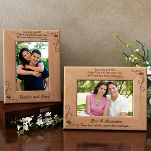 Never Without You Wooden Picture Frame