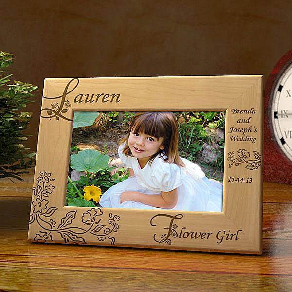 Our Flower Girl Wooden Picture Frame