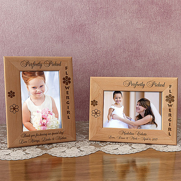 Perfectly Picked Flower Girl Wooden Picture Frame