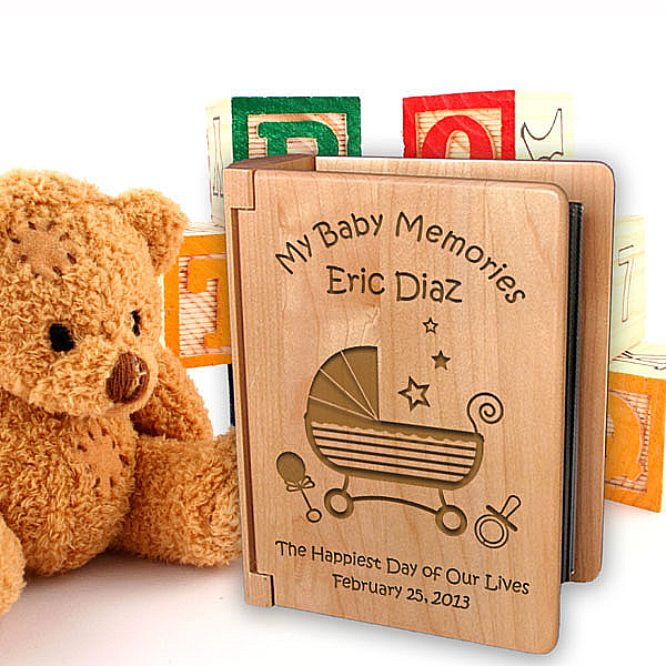 Baby Memories Wooden Photo Album