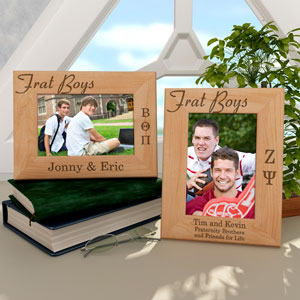 Frat Boys Wooden Picture Frame