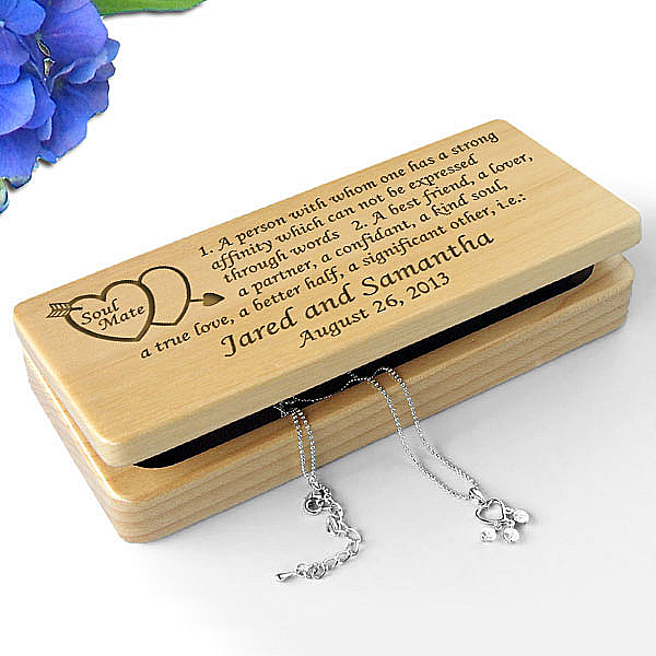 Soul Mate Definition Wooden Jewelry Box