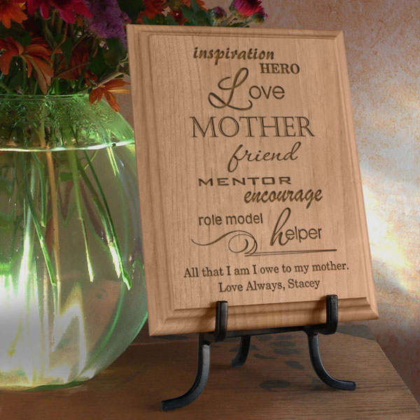 A Mother is... Wooden Plaque