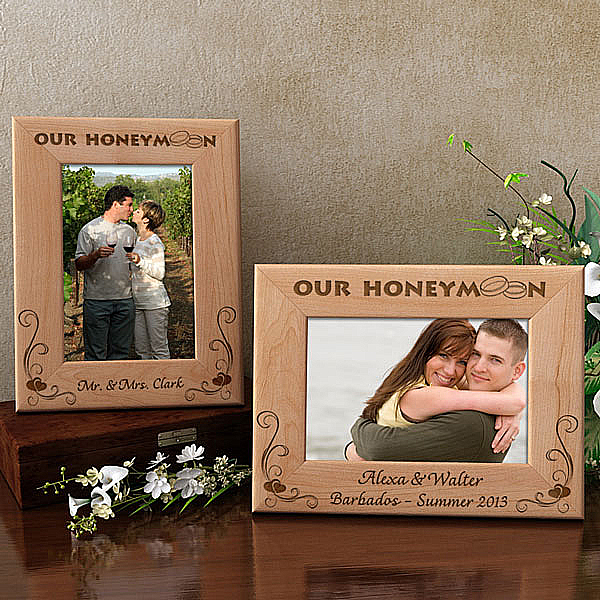 Our Honeymoon Wooden Picture Frame