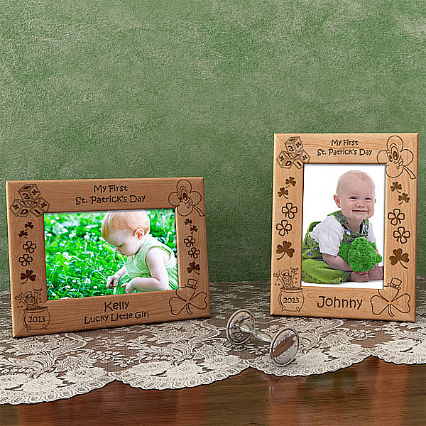 My First St. Patrick's Day Wooden Picture Frame