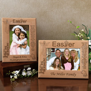 Easter Blessings Wooden Picture Frame