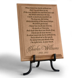 When Tomorrow Starts Wooden Plaque
