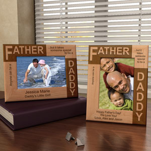 Father...Daddy Wooden Picture Frame