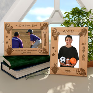 All-Star Sports Wooden Picture Frame
