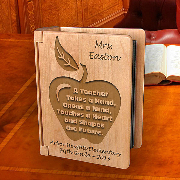 A Teacher Wooden Photo Album