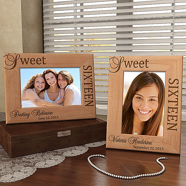 Sweet Sixteen Wooden Picture Frame