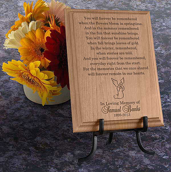 Remembrance Wooden Plaque