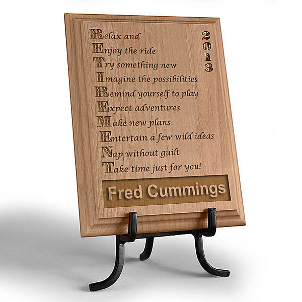 Retirement Wooden Plaque