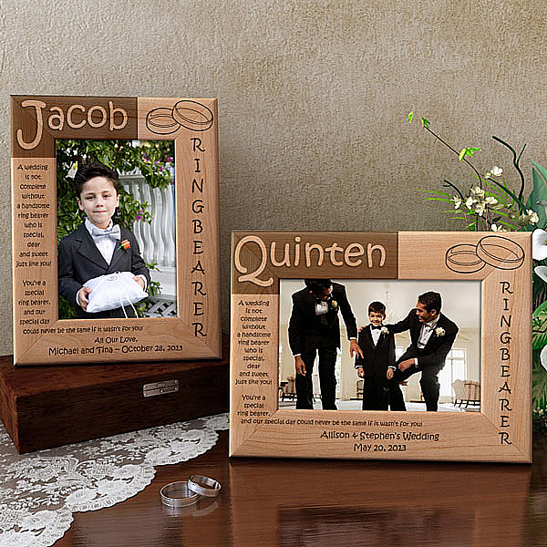 Ring Bearer Poem Wooden Picture Frame