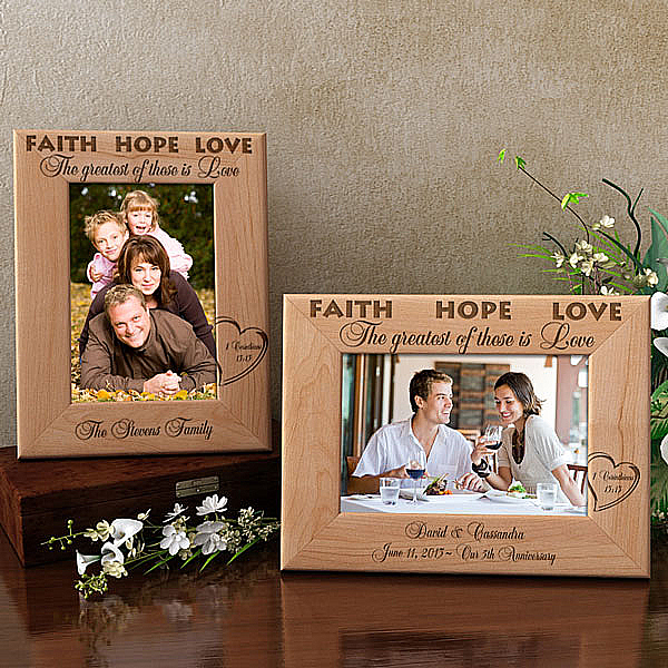 The Greatest of These is Love Wooden Picture Frame