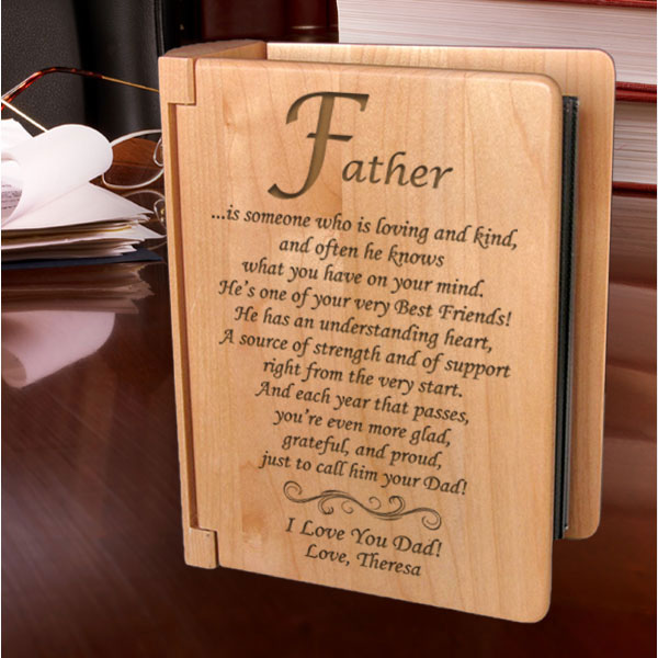 What it Means to be a Father Wooden Photo Album