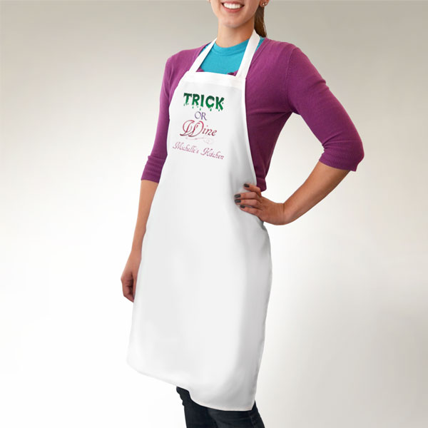 Trick or Wine Apron