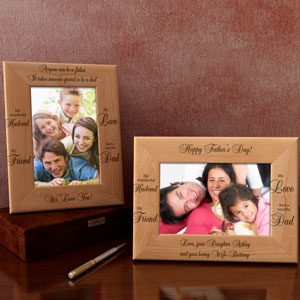 A Terrific Dad Wooden Picture Frame