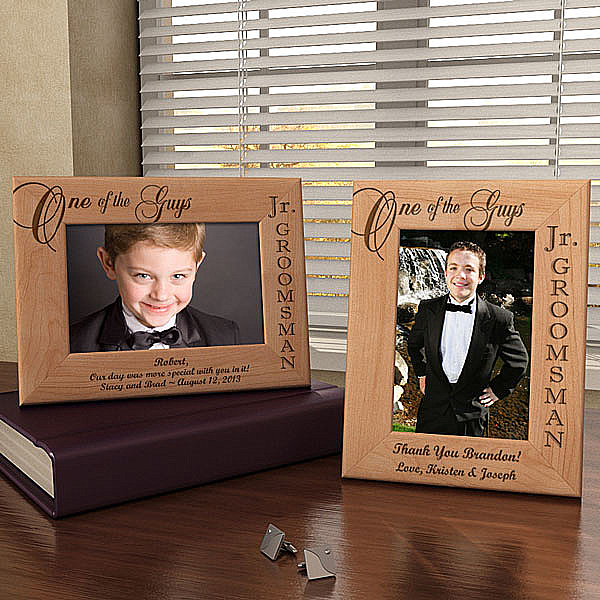 One of the Guys...Our Jr. Groomsman Wooden Picture Frame