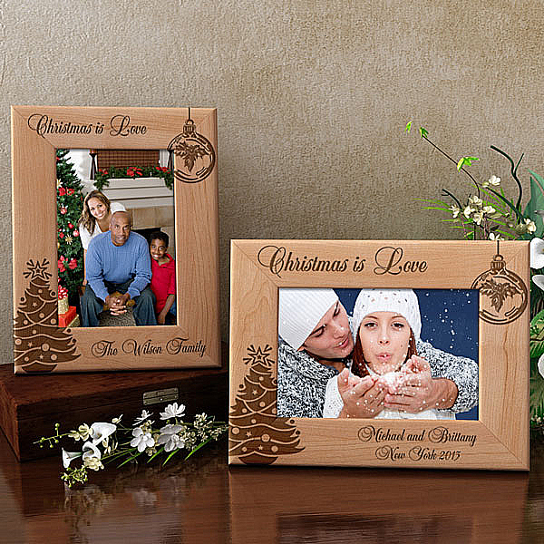 Christmas is Love Wooden Picture Frame