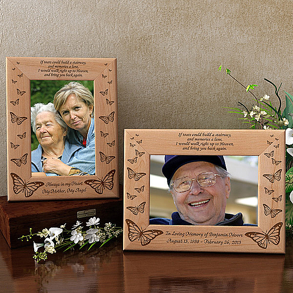 Butterfly Sympathy Wooden Picture Frame