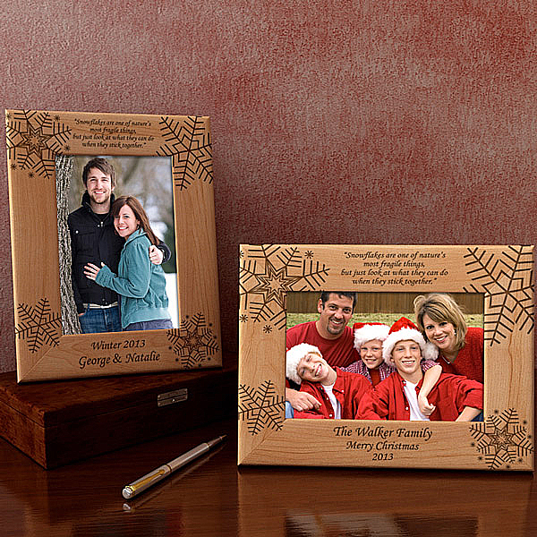 Snowflake Wooden Picture Frame