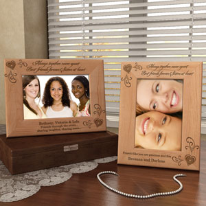 Sisters at Heart Wooden Picture Frame