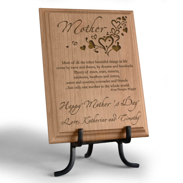 Only One Mother... Wooden Plaque