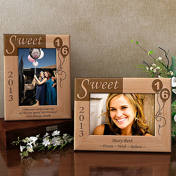 Sweet 16 Wooden Picture Frame