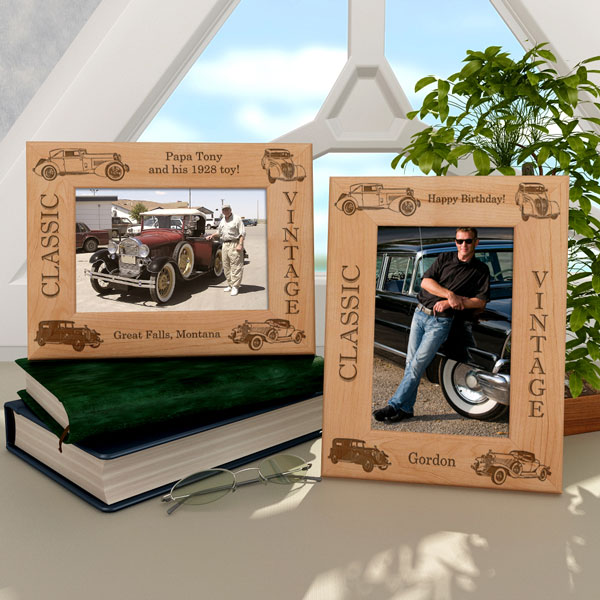 Classic Cars Wooden Picture Frame