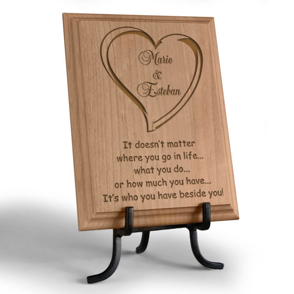 Always Beside You Wooden Plaque