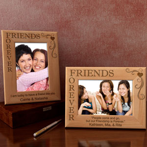 Friends Forever Wooden Picture Frame