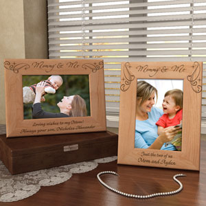 Royale Mommy & Me Wooden Picture Frame