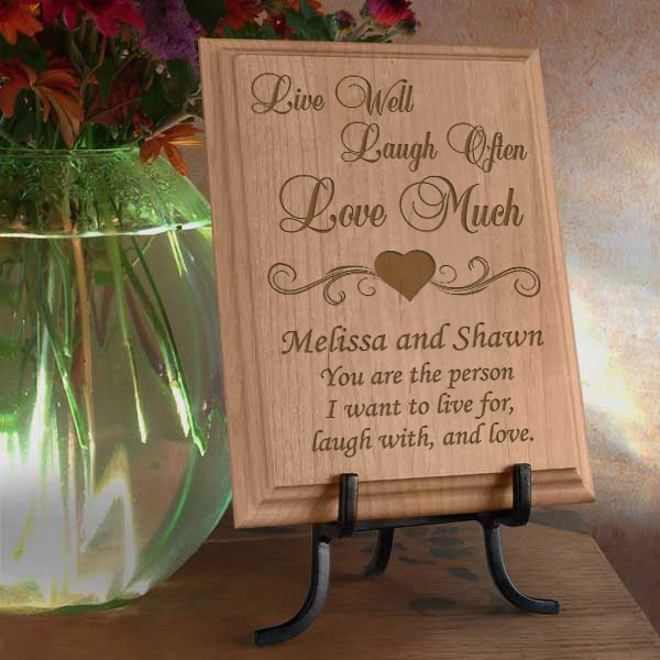 Live Love Laugh Wooden Plaque