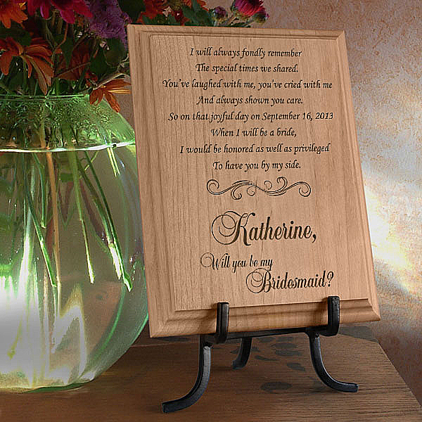 Will You Be My Bridesmaid Wooden Plaque