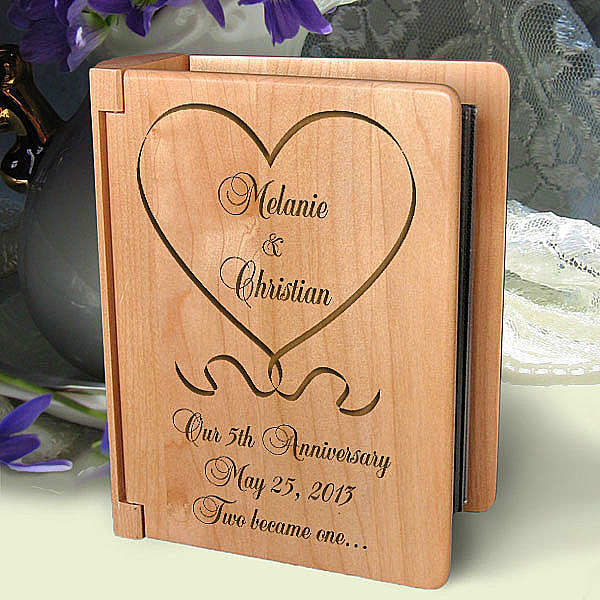 One Love, One Heart Wooden Photo Album