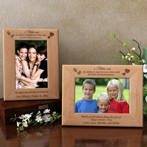 Mother's Heart Wooden Picture Frame