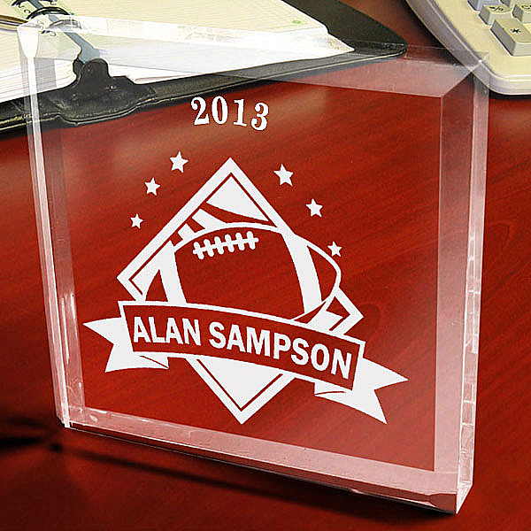 Football All-Star Keepsake & Paperweight